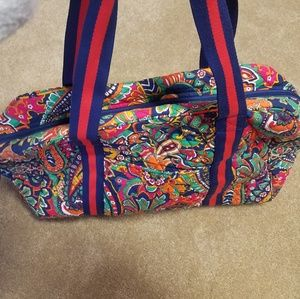 Vera Bradley rounded tote paisley pattern